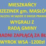 Mieszkańcy Brzezinek gm. Masłów wygrali z RADĄ GMINY