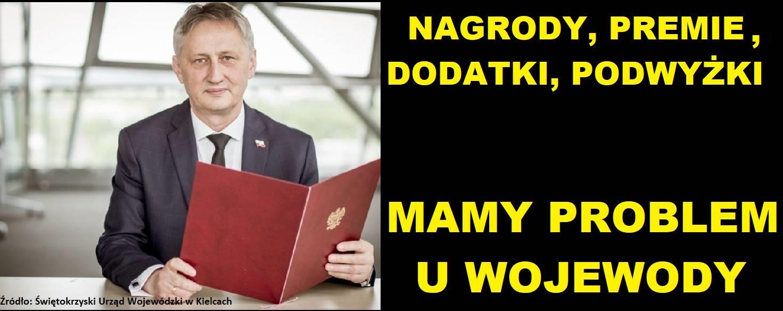 Nagrody, Premie, Podwyżki u Wojewody – mamy problem !
