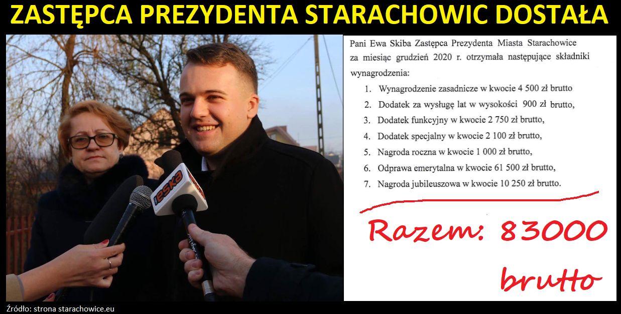 Praca czy emerytura Zastępcy Prezydenta Starachowic?